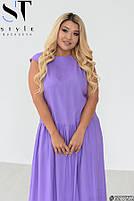 Стильное летнее платье свободного силуэта с заниженной талией с 48 по 58 размер, фото 5