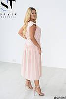 Стильное летнее платье свободного силуэта с заниженной талией с 48 по 58 размер, фото 6
