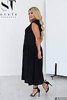 Стильное летнее платье свободного силуэта с заниженной талией с 48 по 58 размер, фото 8