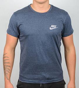 Футболка мужская NIKE (2109м), Синий меланж