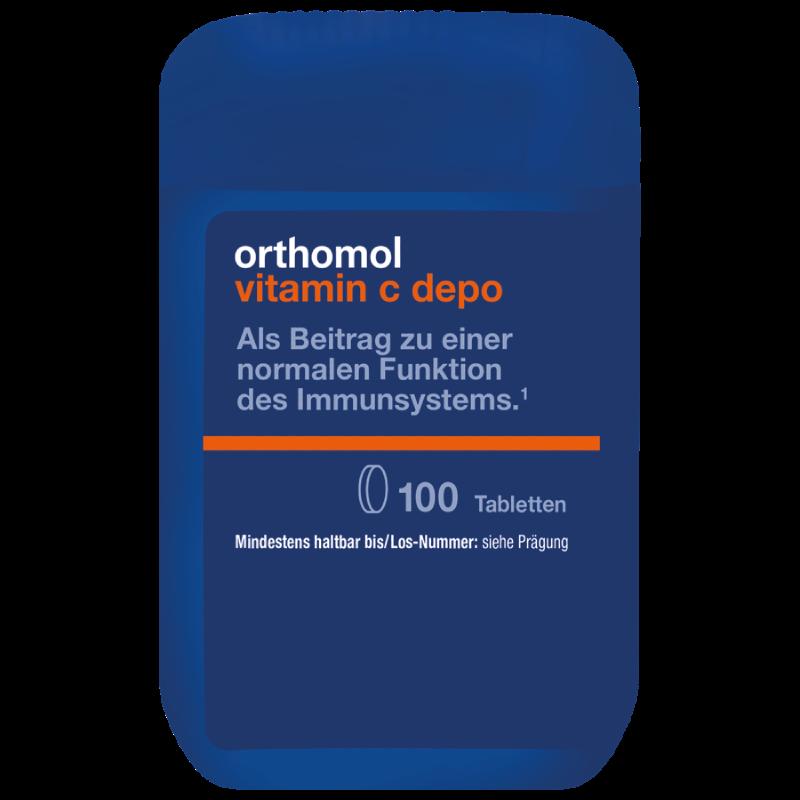 Витамины Ортомол витамин С 100 таблеток Германия Orthomol Vitamin C depo (5324850)