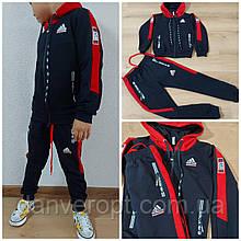 Спортивний костюм дитячий комбінований ADiDAS replik школа хлопчик 4-8 років, купити оптом зі складу 7км Одеса
