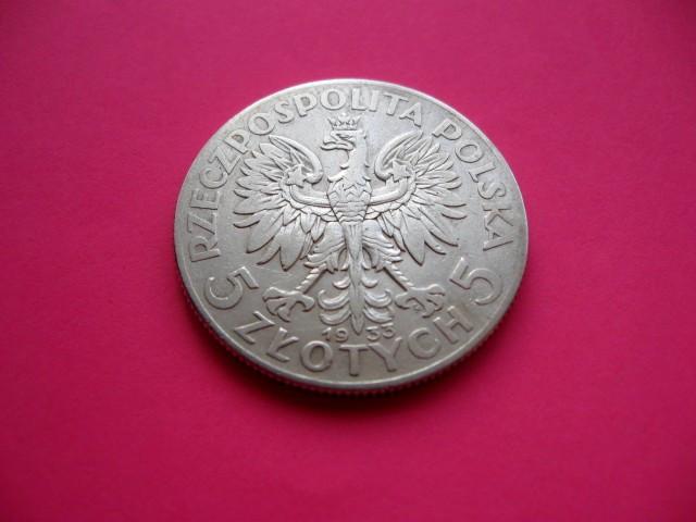 Срібні монети Польщі 5 злотих Ядвіга 1933 рік