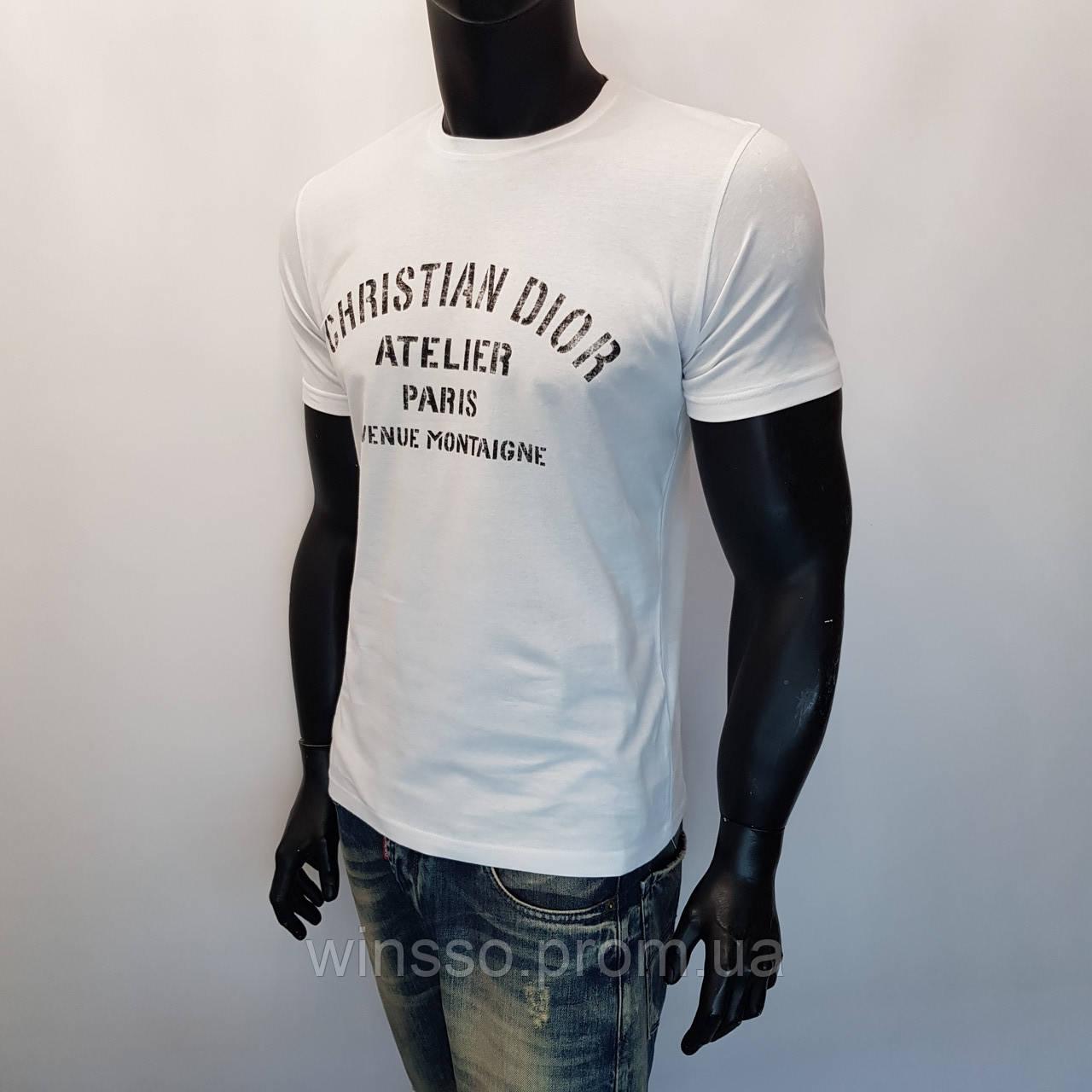 Мужская футболка белая с надписью