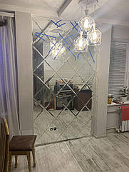 Дзеркальна Плитка з фацетом 15мм ПФС 350*350 (срібло) Україна UMT