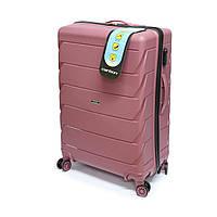 Пластикова валіза Carbon 105 л, рожева, фото 1