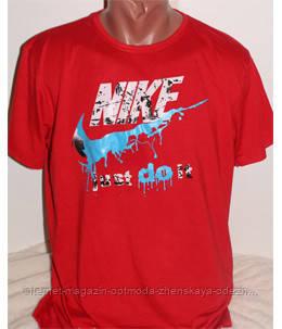 """Красная мужская футболка """"Найк"""""""
