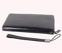 Мужской кожаный клатч BLACK654-2 Черный, фото 3