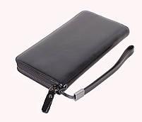 Мужской кожаный клатч BLACK654-2 Черный, фото 4