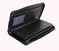 Мужской кожаный клатч BLACK654-2 Черный, фото 6