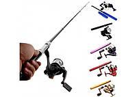 Карманная ручка удочка Pocket Fishing Rod + катушка Мини портативная удочка