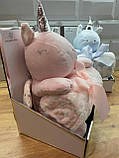 Дитячий плед іграшка Єдиноріг, фото 5