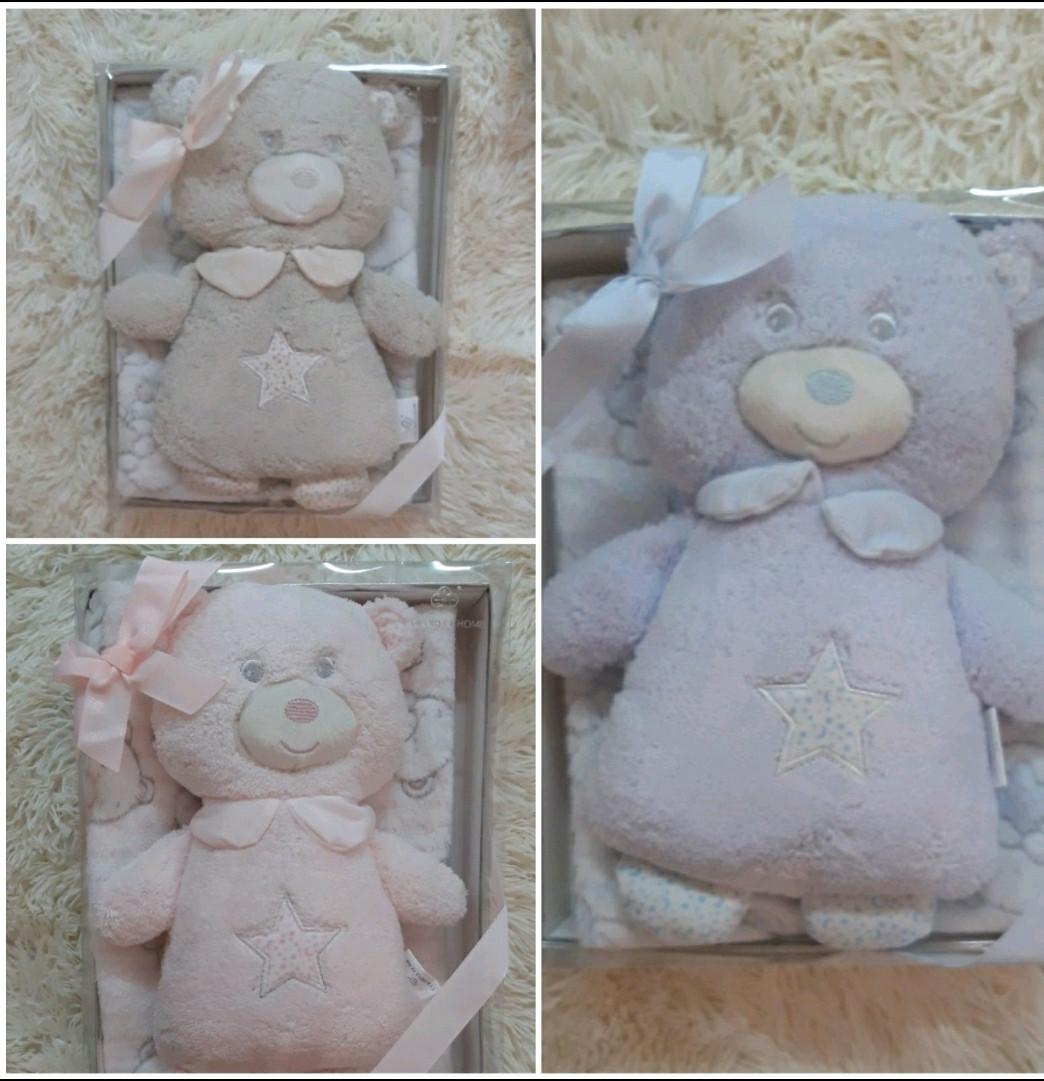 Дитячий плед іграшка Ведмедик