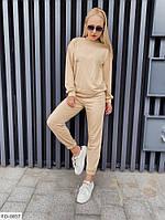 Прогулянковий костюм жіночий спортивний однотонний світшот і штани двунить р-ри S, M, L арт. 10233