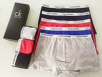 Набор мужских боксеров Calvin Klein 5 шт в подарочной упаковке Боксеры трусы шорты кельвин кляйн