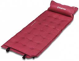 Самонадувающийся килимок KingCamp Base Camp Comfort(KM3560)wine red
