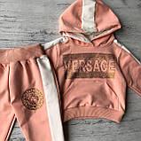Костюм на дівчинку в стилі Versace 803. Розмір 74 см, 80 см, 86 см, 92 см, фото 2