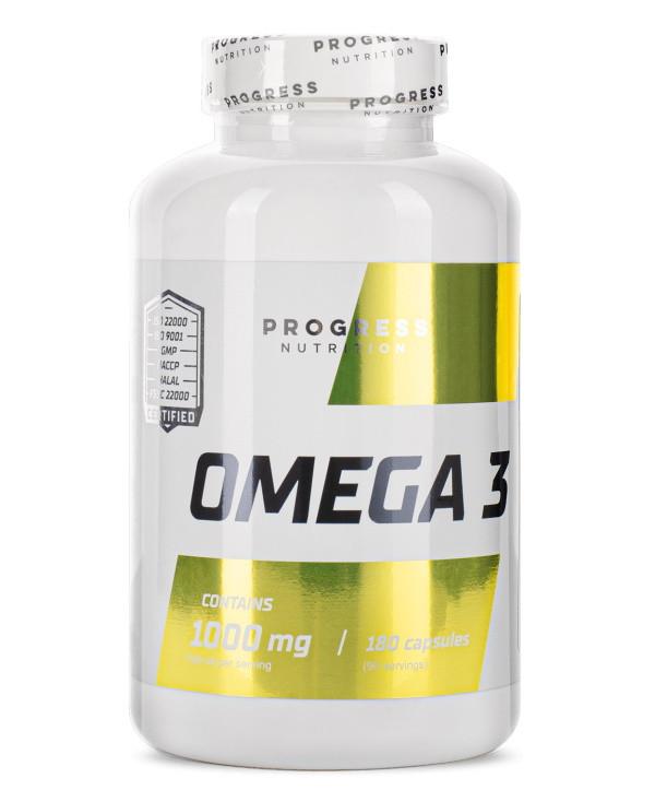 Жирные кислоты Progress Nutrition Omega 3, 180 капсул