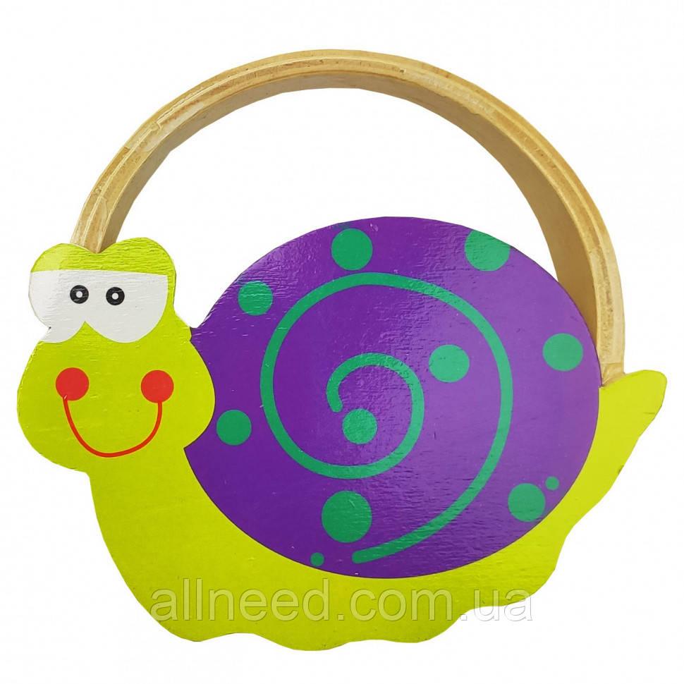 Дерев'яна іграшка Бубон MD 2477 14 см (Равлик)