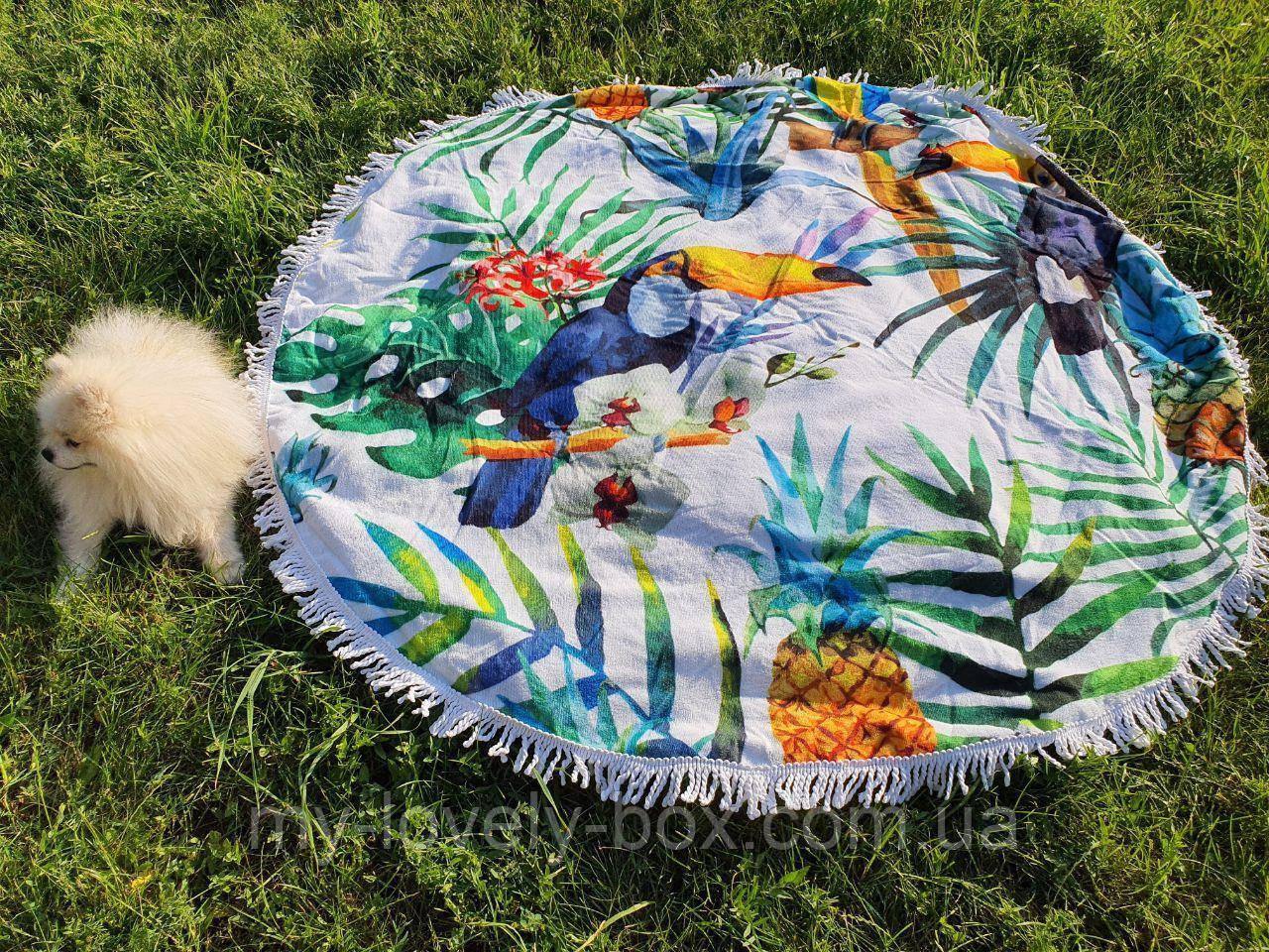 Полотенце пляжное круглое МАХРА (Арт. TPA205/9)