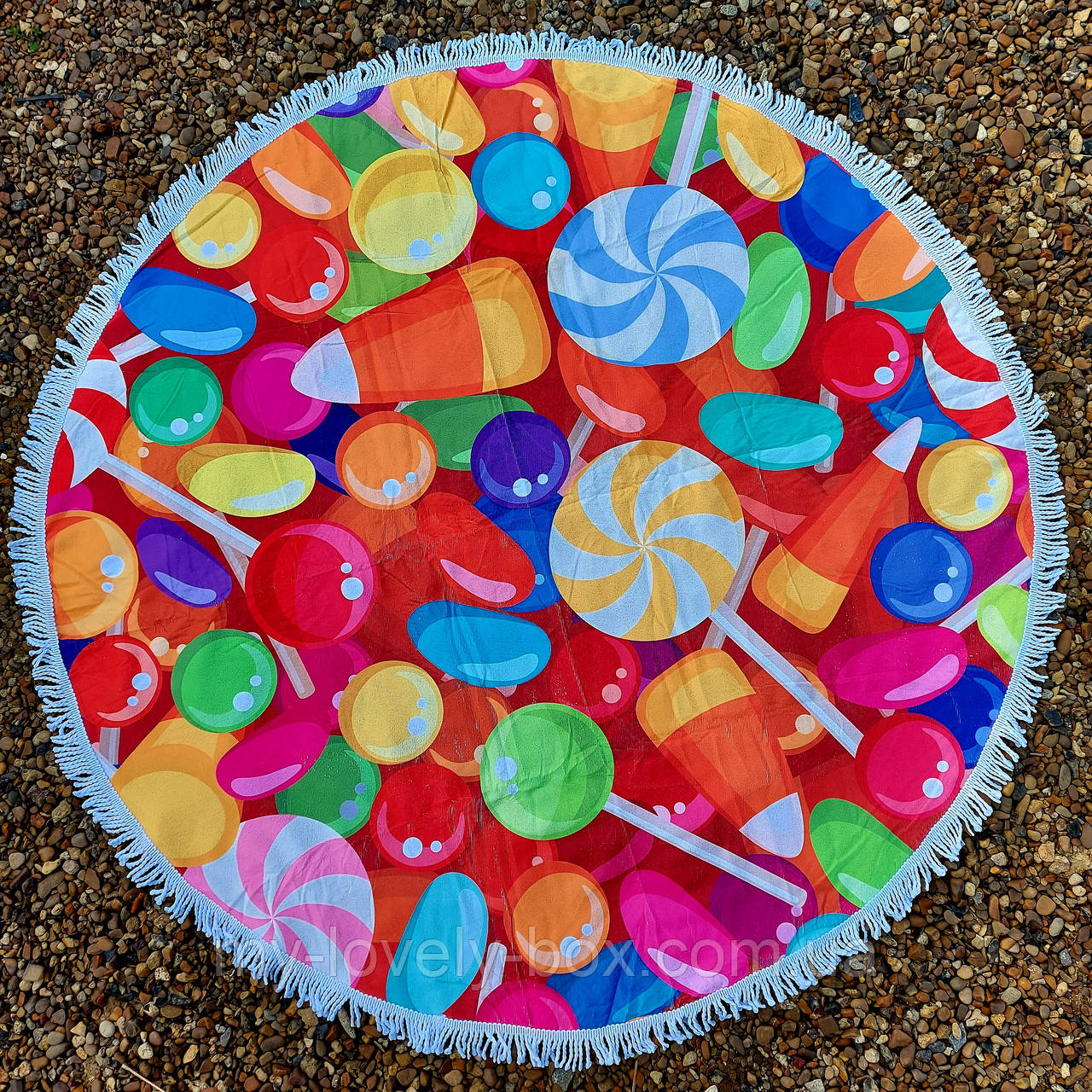 Рушник-пляжний килимок кругле (Арт. TPA113/4)