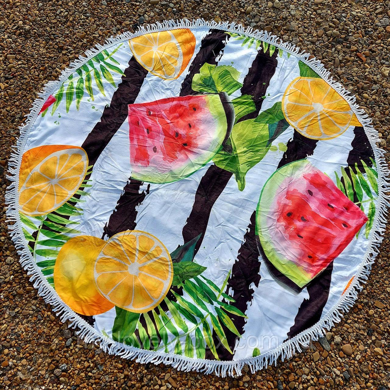 Рушник-пляжний килимок кругле (Арт. TP312/6)