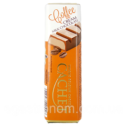 Батончик Кашет молочний шоколад кава Cachet coffe cream milk chocolate 70g 6*8 48шт/ящ (Код : 00-00006158)