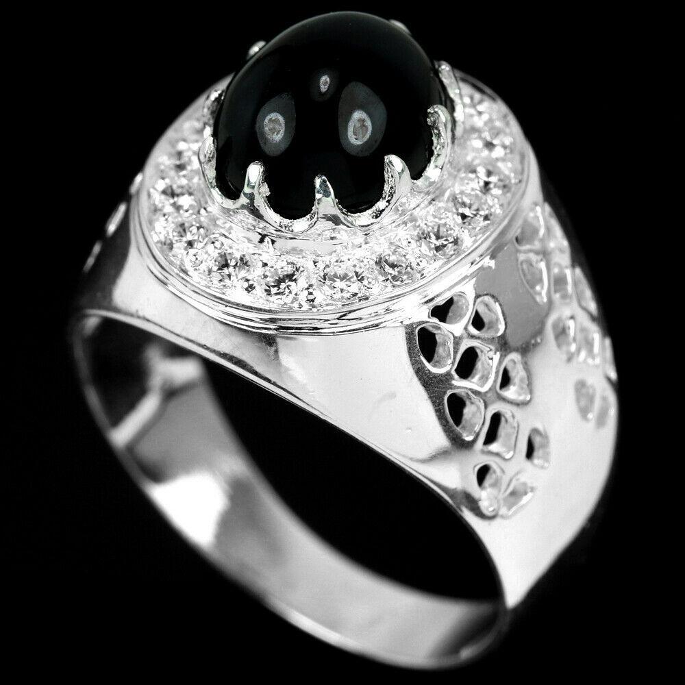 Шпинель черная серебряное кольцо, 1795КШ