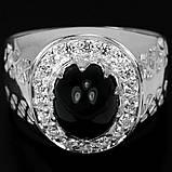 Шпинель черная серебряное кольцо, 1795КШ, фото 2