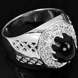 Шпинель черная серебряное кольцо, 1795КШ, фото 3