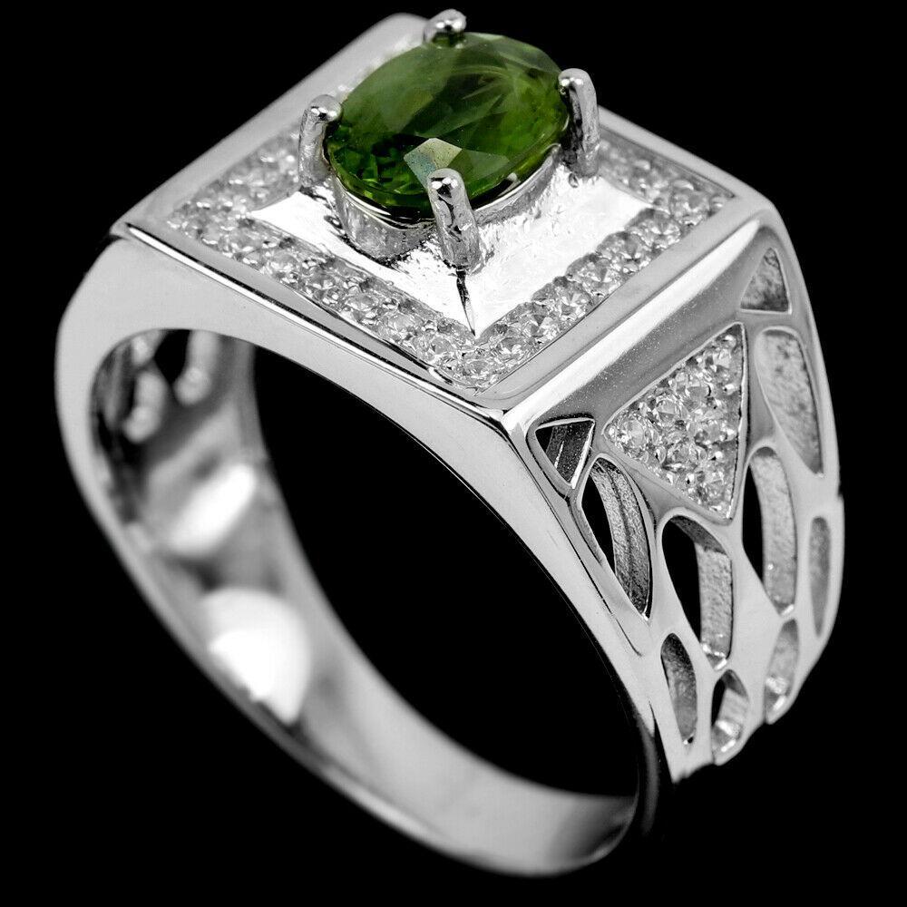 Сапфір зелений срібне кільце, 1796КС