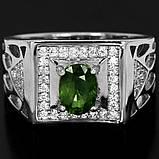 Сапфір зелений срібне кільце, 1796КС, фото 2