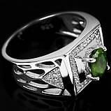 Сапфір зелений срібне кільце, 1796КС, фото 3