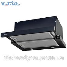 Встраиваемая, телескопическая кухонная вытяжка Ventolux Garda 60 BK (750) IT черная эмаль