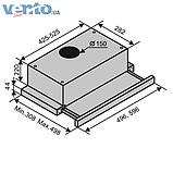 Встраиваемая, телескопическая кухонная вытяжка Ventolux Garda 60 BK (750) IT черная эмаль, фото 2