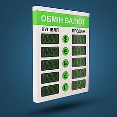 Cветодиодный указатель курсов обмена валют  OV-003