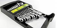 Alloid. Набор ключей комбинированных, трещоточных с карданом 11 предметов,  8-19 мм. НК-2081-11К (3)