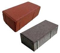 Плитка тротуарная ФЭМ «Кирпич гладкий» 100 х 200 х 40 мм
