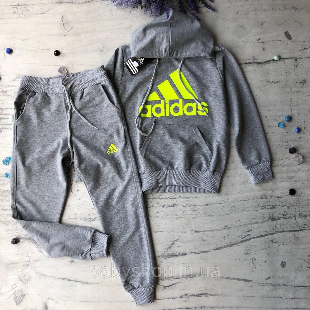 Спортивний костюм на дівчинку-підлітка в стилі Adidas 9. Розмір 128 см 140 см, 152 см, 164 см, 176 см, 182 см