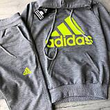 Спортивний костюм на дівчинку-підлітка в стилі Adidas 9. Розмір 128 см 140 см, 152 см, 164 см, 176 см, 182 см, фото 2