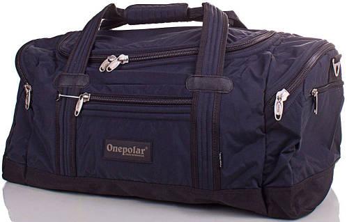 Вместительная дорожная сумка 60 л. Onepolar (Ванполар) WB808-navy синий