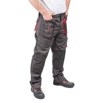 Брюки рабочие 80 % полиэстер, 20 % хлопок, плотность 260 г/м2, XXL  INTERTOOL SP-3014