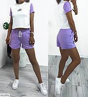 Летний костюм спортивный приталенные шорты с короткой футболкой  р-ры 42-48 арт. 1042