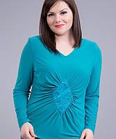 Женская Блуза бирюза ромб, фото 1