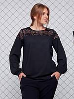 Блуза космо   р. 52,54,56,58 черная и молочная, фото 1