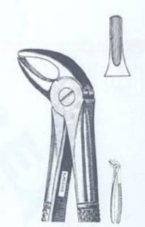 Щипцы экстракционные для нижних резцов и клыков (Пакистан) NaviStom