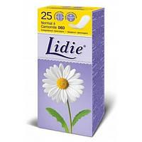 Щоденні прокладки Lidie Camomile Normal Deo жіночі з ароматом ромашки, 25 шт