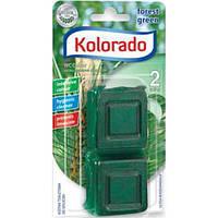 Таблетка для бачка унитаза Kolorado WC Colour зеленый, 2 шт