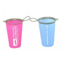 TE Складний стакан силіконовий 200мл синій/рожевий
