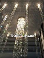 Точечные светильники( световые колонны из хрусталя)